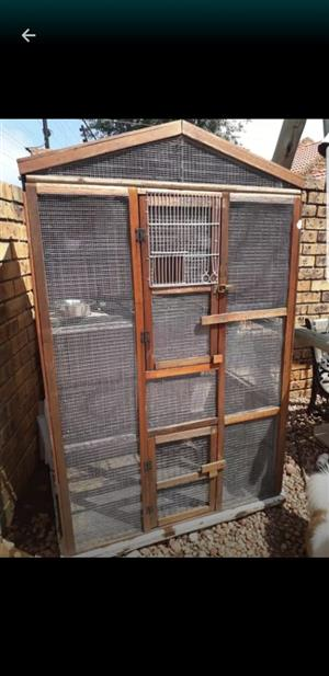 Big wooden cage 1.5meter. 500deep.1meter br