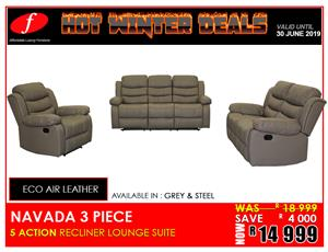 LOUNGE SUITE NAVADA RECLINER FOR ONLY R14 999 ON PROMOTION !!!!!