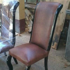 New brown and black dining chairs