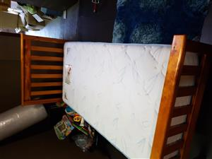 2 single bed frames and mattresses