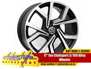 17 inch Evo Clubsport 5 100 pcd Alloy Wheels widest range mags