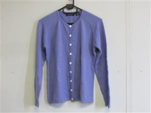 Cashmere Lilac Cardigan with buttons- medium
