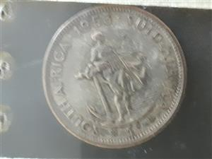 Old south African 1 shilling 1958