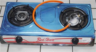 Red hart two plate gas stove S036597A #Rosettenvillepawnshop