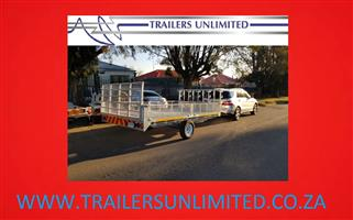 TRAILERS UNLIMITED CUSTOM BUILD FLATBED TRAILERS.