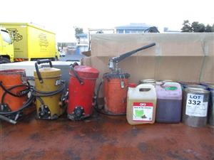 High pressure grease guns - ON AUCTION