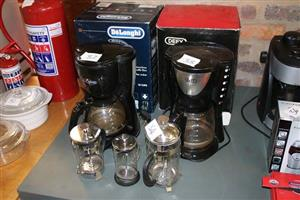 Defy and Delonghi coffee machines