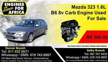Mazda 323 1.6L B6 8v Carb Engine Used For Sale.
