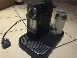 Nespresso Coffee Machine with Milk Frother - Good Condition