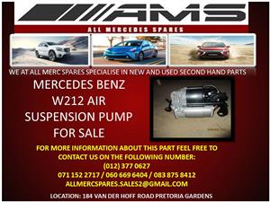 MERCEDES BENZ W212 AIR SUSPENSION PUMP FOR SALE