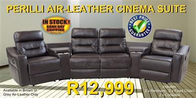 PERILLI Air Leather Cinema Suite, Includes 2 x Recliners