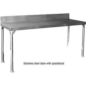 Stainless Steel Table with Splashback W2360mm x D610mm x H900mm