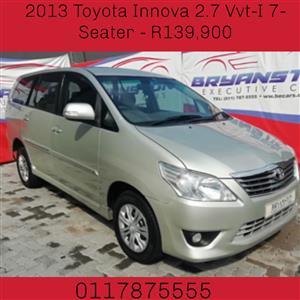 2013 Toyota Innova 2.7 7 seater