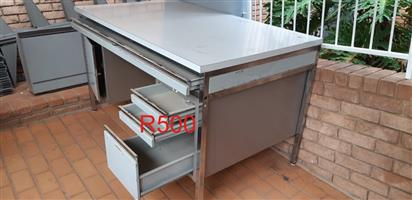 Steel desk for sale.