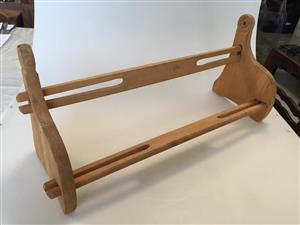 Solid Oak wood Freestanding table top Book rack - stuck for an anniversary gift? consider this!