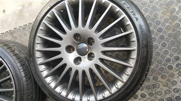 "18""inch TSW Venom mags & Alfa 17""inch mags & tyres"