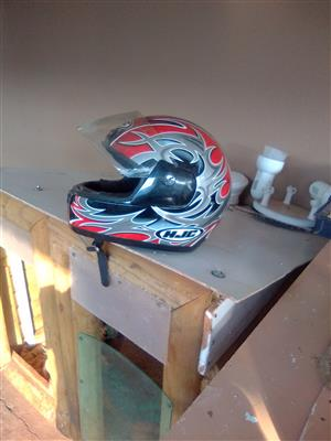 2 motorcycle helmets