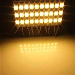 LED Light Modules: Waterproof Square Injection Moulded in Warm White Colour. 12Volts.