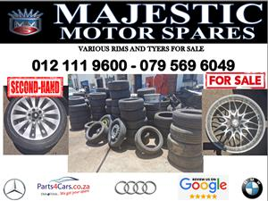 Various rims and tyers for sale