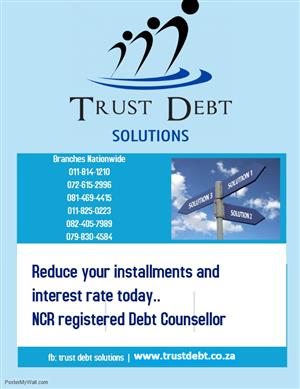 WE LOWER YOUR INSTALLMENTS UP TO 50% AND INTEREST RATES AS LOW AS  0%