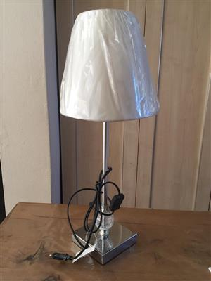 Mr Price Home New and Unused Chrome and steel Lamp with shade