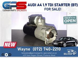 Audi A4 1.9 TDI - Starter (B7) FOR SALE!
