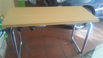 Office desk table - chrome steel frame