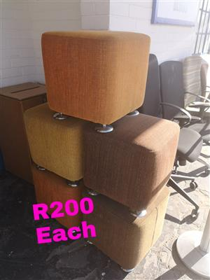 Foot stools and solid old school ottomans