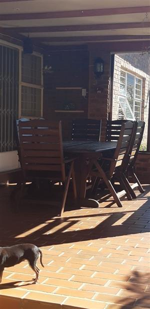 Beautiful Wooden Table and Chairs for sale