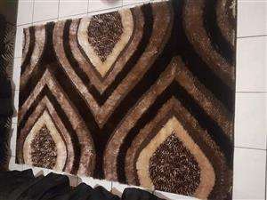 Black and brown leaf sequence carpet for sale