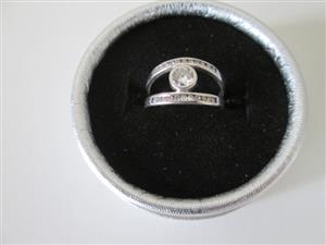 White gold diamond Wedding / Dress ring for sale