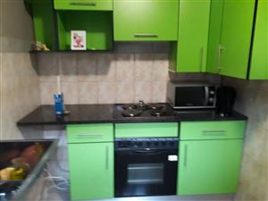 One bedroom,shower and kitchenette . The place is quite  near  Forest Hill Mall.