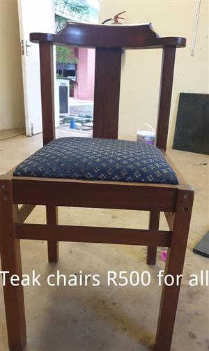 Teak chairs for sale