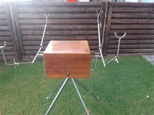 Fishing box and tripod stand