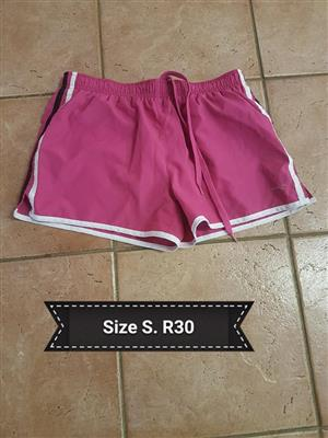 Small pink and white pt shorts