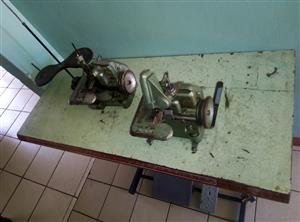 Hemming Sewing Machine - Yamata model DCY-108 on bench with clutch motor plus an extra head all for 2500 rands
