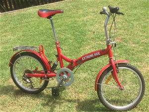 fold up bicycle , ideal for cars with small boots or cabriolets