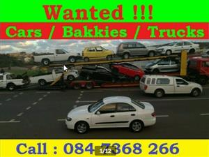 "We buy cars and bakkies ""alive and dead"" countrywide"