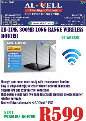 LB-LINK 300 Mbps Long Range Wireless Router