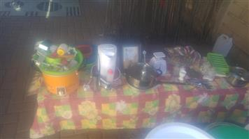 Kettles,pots and baking goods