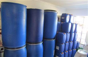 210 liters Open top plastic drums