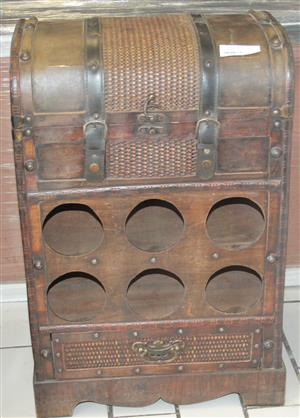 Brown wine rack S029301c  #Rosettenvillepawnshop