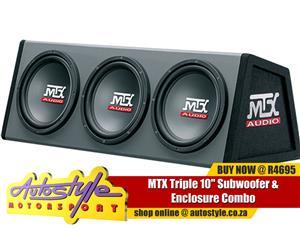 MTX Triple 10 Subwoofer Enclosure Combo