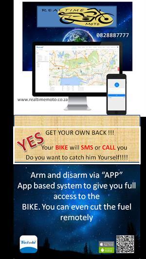 Motorcycle Alarm Immobiliser GPS Tracker