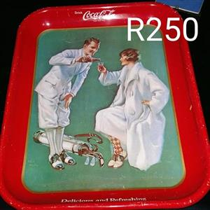 Coca cola red serving tray