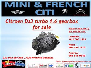 Citroen ds3 turbo 1.6 gearbox for sale !!