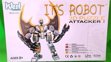 Its robot 3d puzzle attacker
