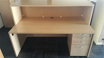Maple finish reception desk