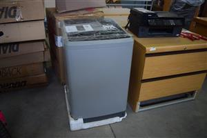 Grey top loader washing machine