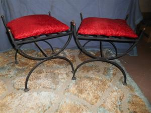 Two ottomans